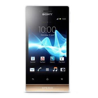 Sony Xperia Miro ST23i - 4 GB - Putih/Emas
