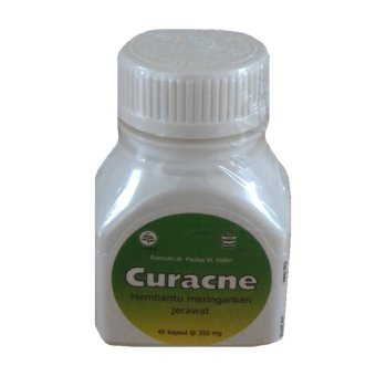 CurAcne - Obat Herbal untuk Jerawat - 40 Kapsul