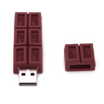 S and F Chocolate Shape 4GB USB Flash Drive Pendrive Flash Memory Stick (Brown) - Intl