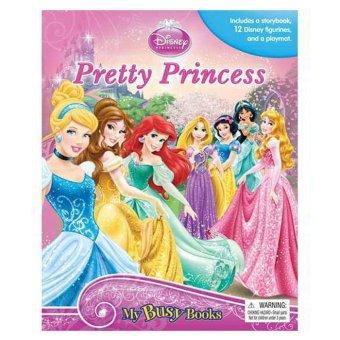 Genius Buku Anak Genius My Busy Book Disney Princess Pretty Princess Includes A Storybook, 12 Disney Figurines And A Giant Playmat