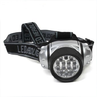 JIANGYUYAN 14 White LED,3 Brigthtness Level Choice Adjustable Pivoting Headlamp With Adjustable Strap (Intl)