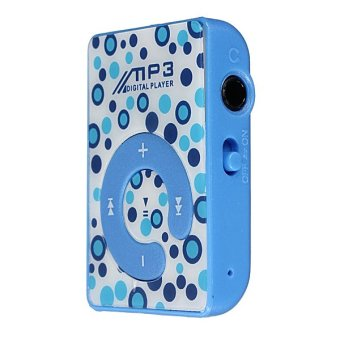Autoleader Fashoin Mini Clip USB MP3 Music Media Player Micro SD/TF Card Slot Support 1-8GB Blue (Intl)