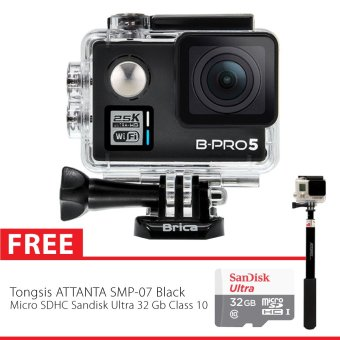 harga Brica B-Pro 5 Alpha Plus Combo Supreme Action Camera - Hitam + Free Monopod + Micro SD Card 32 Gb Lazada.co.id