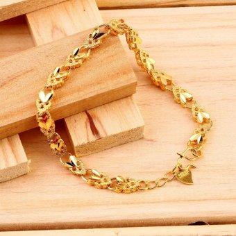 Harga Allwin Vacuum Plating 24K Gold Angel Heart Bracelet Emulational Jewelry Bracelet Terkini - Lihat Ulasan Terbaru - Harga Terbaik Agustus
