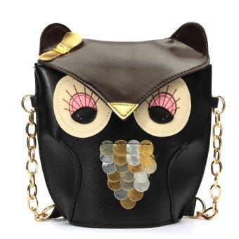 Fashion Women Owl Print Satchel Messenger Shoulder Bag Handbag Cross Body Purse - Intl