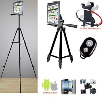 harga Fosoto Periscope Live Video Streaming Photo Booth 7-12 Tablet Stand w/52 TRIPOD, 360° Vibration Free Joint mount, Holder & Bluetooth Remote for Apple iPad Air Pro MINI Samsung Galaxy Tab Tablets Lazada.co.id