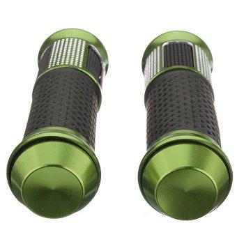 25mm Universal Motorbike Dirt Bike Handlebar Hand Grip Bar Rubber Aluminum (Green)