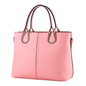 Ladies Handbag Pu Leather Messenger Bags pink - Intl
