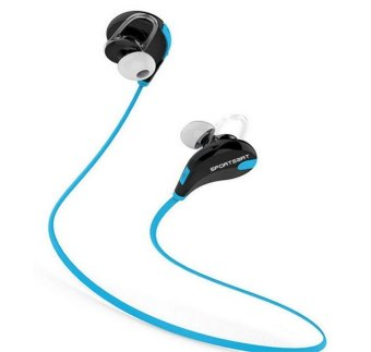 Mini Flyweight Stereo Bluetooth Headset/Hands-free Microphone for Phone (Blue) - Intl