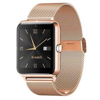 Bluetooth Smart Watch Z50 Wristwatch Heart Rate Tester NFC Phone Call Reminder (Gold) (Intl)