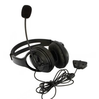 Black Headset Headphone Earphone Microphone for Microsoft Xbox 360 Live Game