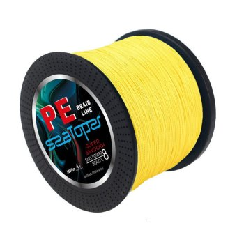 1000M 35LB 0.285mm Multifilament PE Braided Fishing Line 8 Strands Super Strong Braid Fish Line (Yellow)