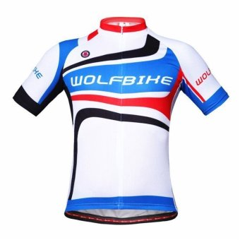 Men's Cycling Short Sleeve Jersey Perspiration Breathable Bicycle Clothing Comfortable Shirts Tops (Intl)
