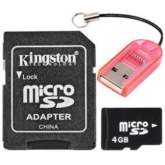 harga 4GB Micro SD Memory Card TF Card + Kingston Micro SD TF Card to SD Card Adapter Converter + Card Reader Lazada.co.id