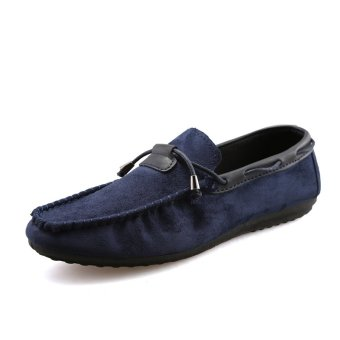 Men's casual shoes Loafers flat shoes leisure men's shoes ss320be blue (Intl)