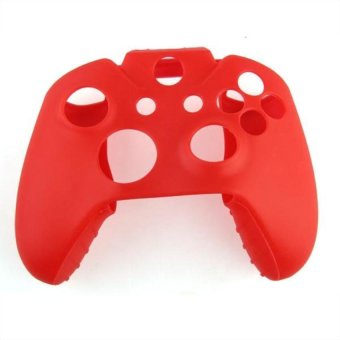 Generic Soft Silicone Gel Protective Skin for XBOX ONE Controller - Red