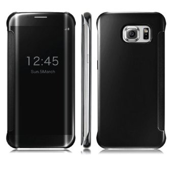 Clear View Cover Case for Samsung Galaxy S6 Edge Black (Intl)