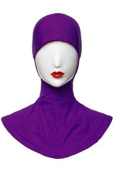 3pcs lot Muslim Under Scarf Inner Cap Hat Hijab Neck Cover Headwear ( Purple Rose White) - INTL