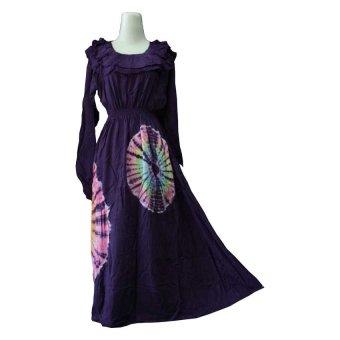 Kampung Souvenir - Gamis Rainbow Ruffle Dark Purple
