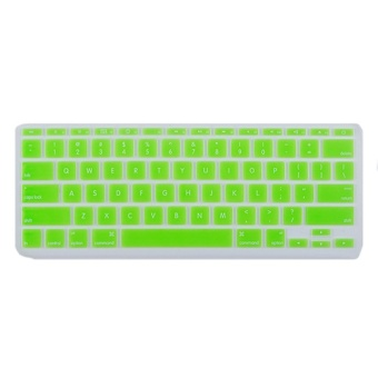 Silicone Soft Keyboard Cover Skin Protector For Apple Macbook Air 11.6inch Green- Intl