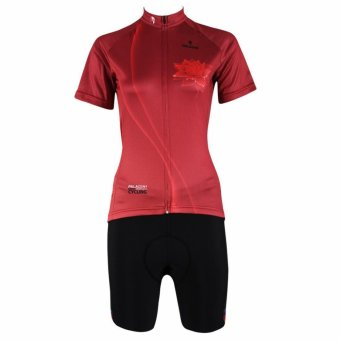 PALADIN 281 SPORT Cycling Women's Short Sleeve Jersey and Shorts Set Red M
