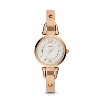 harga Fossil ES3745 - Jam Tangan Wanita Rose Gold Georgia Sand Leather Watch Lazada.co.id