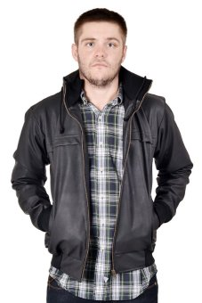 Goog On Synth Leather Jacket Casual Kode GO-04