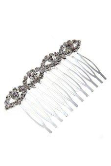Generic Silver Plated Rhinestone Crystal Wedding Hair Comb Pin