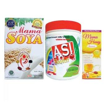 Mama Soya Paket Awal Menyusui Mama Soya, Mama Honey dan Asi Booster Tea