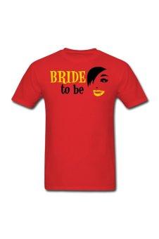 Men's Wedding Bride Custom T-Shirt for red - Intl