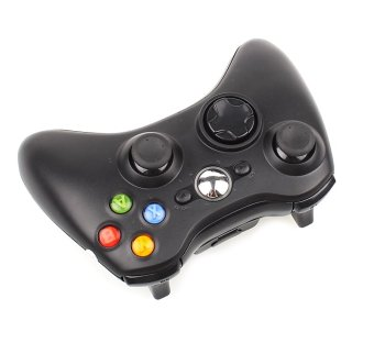 Wireless Game Remote Controller with Powered USB Port for Microsoft Xbox 360 Console (Black) (Intl)