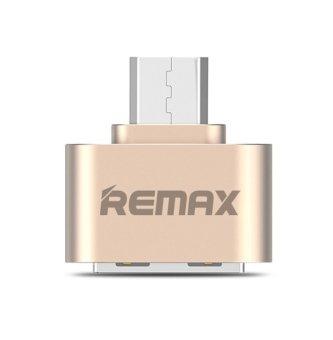 Remax RA-OTG Plug for Smartphone USB 2.0/Micro USB - Gold