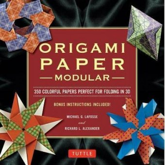 Periplus - Modular Origami Paper Pack: 350 Colorful Papers Perfect for Folding in 3D