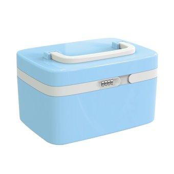 Portable Lockable Plastic Makeup Cosmetic Storage Box Warehouse Storage Container Storage Organizer - Intl