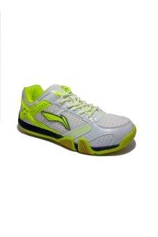 harga Lining Saga X AYTJ083-1 Sepatu Badminton - Putih-Hijau Lazada.co.id