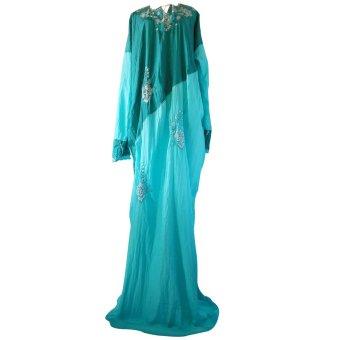 Loket Bagus Long Dress Wanita Parasit - Biru