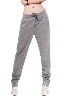 Azone Straight Sports Harem Pants (Gray) - Intl
