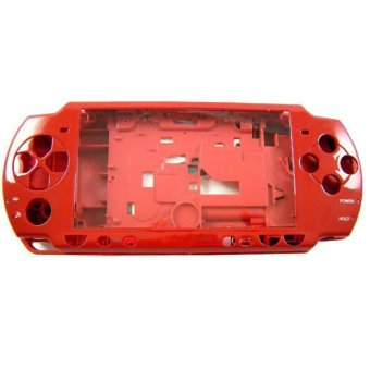 Red High Quality Full Housing Shell Faceplate Case Part Replacement for Sony PSP 2000 (Intl)
