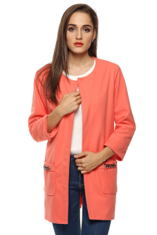 Cyber Women Casual Long Jacket (Pink)