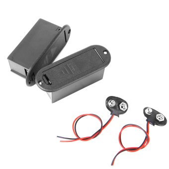 RIS Two Guitar Pickup 9v Battery Case Box and w/Battery Clip (Intl)