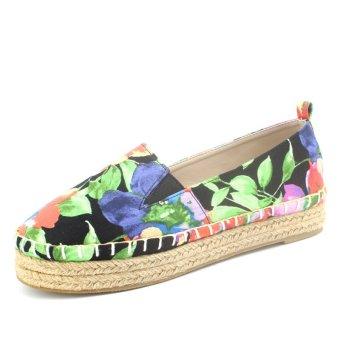 women's hand-made hemp flat espadirlles shoes (Intl)