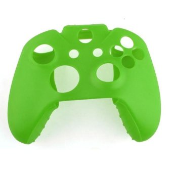 Generic Soft Silicone Gel Protective Skin for XBOX ONE Controller - Green - Intl