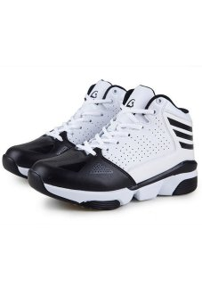 Ace Fashion Men Breathable Outdoor Antiskid Professionals Basketball Sports Shoes(Black)