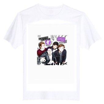 5 Seconds Of Summer 5SOS 100% Cotton O Neck Camiseta Unisex Short Sleeve T Shirt (Intl)