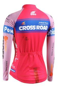 FIXGEAR CS-W7P1 Womens Cycling Jersey Longsleeve Road Bike Top MTB Bicycle Wear (EXPORT)
