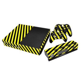 Aukey Stripe Skin Sticker for Xbox One Gamepad (Black/Yellow)