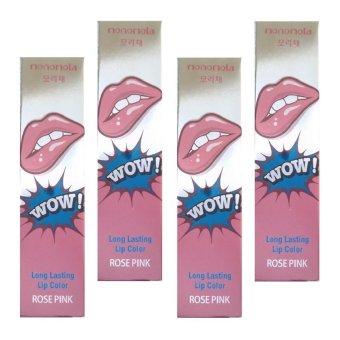 Monomola Lip Tattoo Lips Tato Rose Pink - 4pcs