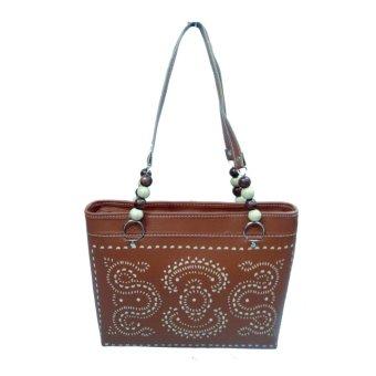 LIN'S Craft Tas Vinil Tatah Besar - Coklat