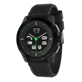 Cookoo 2 SmartWatch Sporty Chic for iPhone 5/4s/iPad/iPod/Galaxy S4 - Hitam