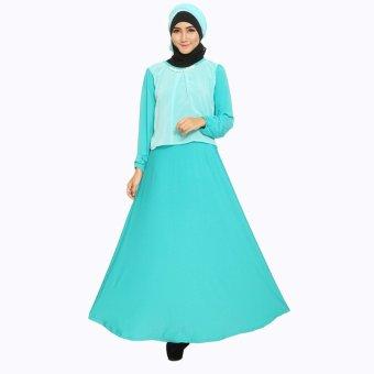 Jfashion New Gamis Spandek Combination With Necklace Plus Hijab - Tosca